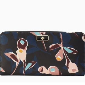 Kate Spade Dawn paper rose continental wallet